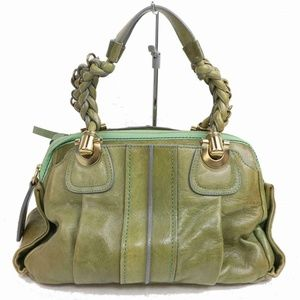 Auth Chloe Greens Leather Bag #870O62